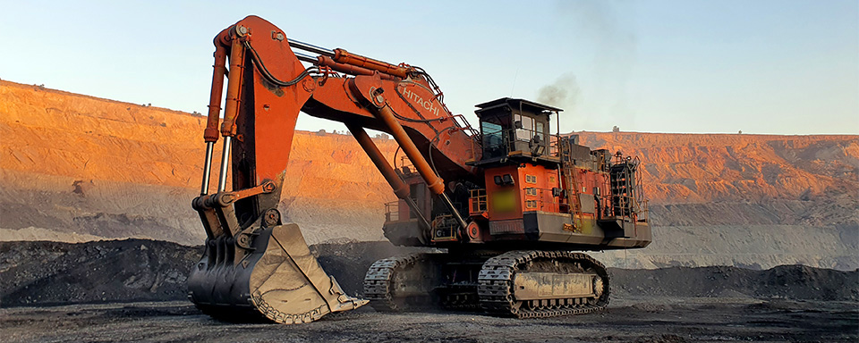 Hitachi Excavator in Open Cut Pit